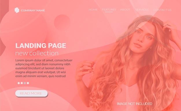 Web-banner-design für die verkaufslandung