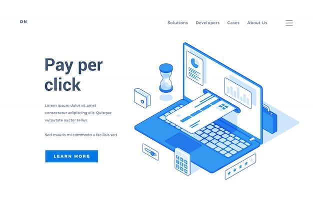 Web-banner für einfachen online-zahlungsservice