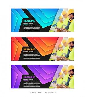 Web-banner in standardgröße mit platz für bilder oder fotos
