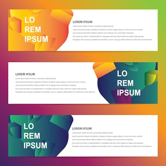 Web-banner mit trendigen geometrischen design