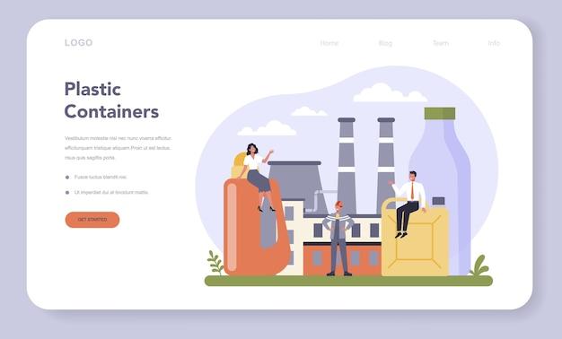 Web-banner oder landingpage der container- und verpackungsindustrie
