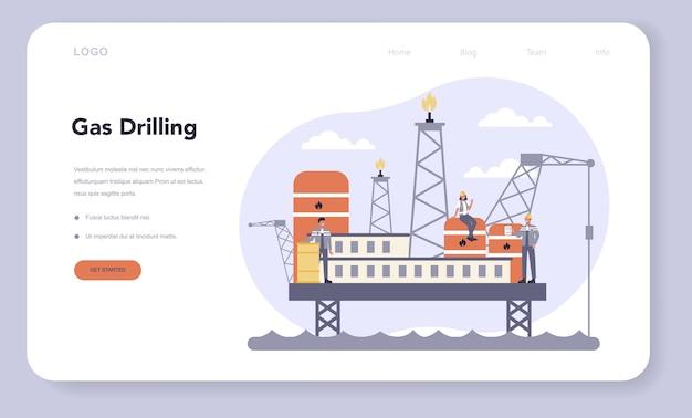 Web-banner oder landingpage der öl- und gasindustrie