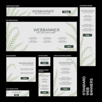 Web-banner-sammlung - botanisch