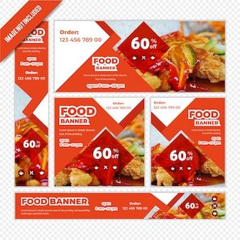 Web banner set für restaurant