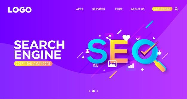 Web-banner-vorlage für suchmaschinenoptimierung