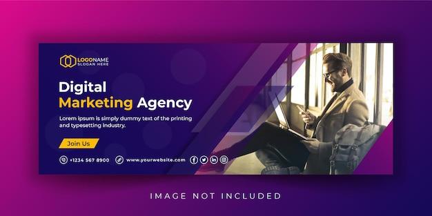 Web-banner-vorlage für unternehmen und digitale marketingagenturen