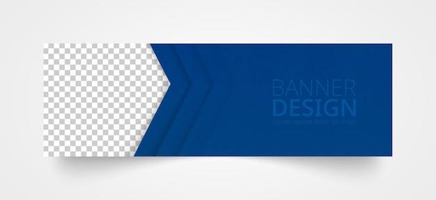 Web-banner-vorlage mit platz für bild. vektor-illustration.