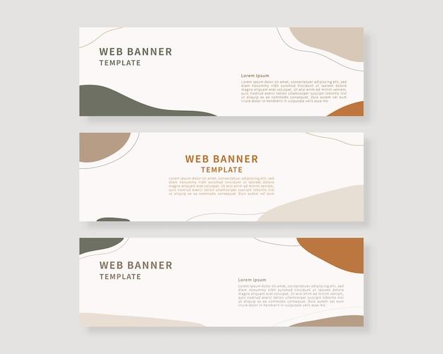 Web-banner-vorlagen-set sammlung von horizontalen banner-design vektor-illustration