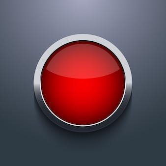 Web-button-design auf grauem hintergrund