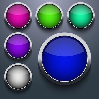 Web button set design