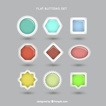 Web buttons formen gesetzt