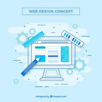 Web-design-konzept mit flachem design