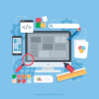 Web-design-konzept