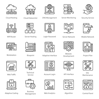 Web design linie icons