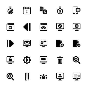 Web development glyph icons