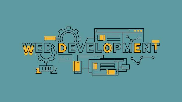 Web-entwicklung flat line design