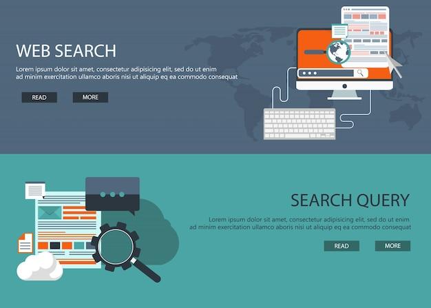 Web-entwicklung und suche banner