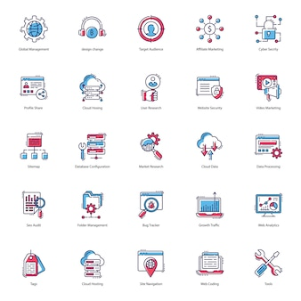 Web flat icons pack