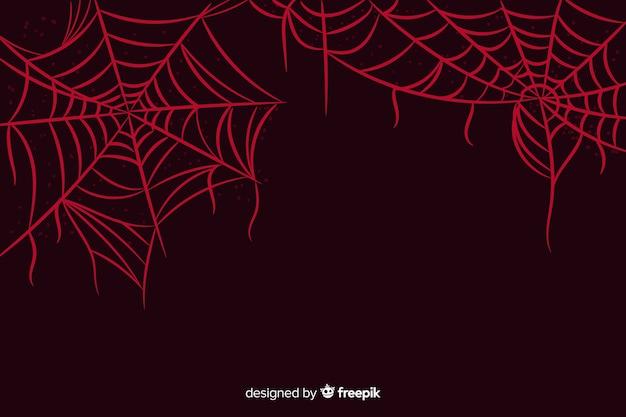 Web-halloween-hintergrund der spinne roter