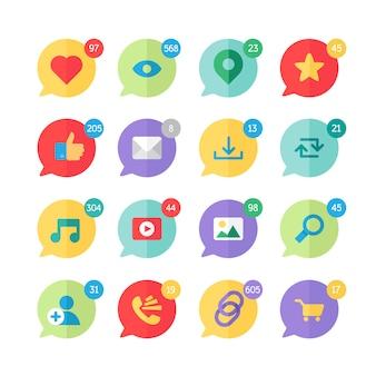 Web icons für blog und soziale netzwerke