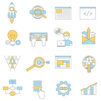 Web icons line