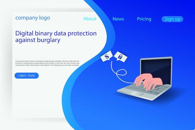 Web-internet-hacker-angriffskonzept
