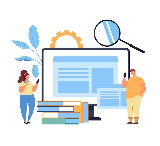 Web-internet online-bildung tutorial digitale bibliothek suche informationskonzept
