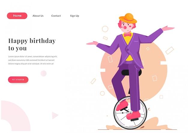 Web landing page clownshow