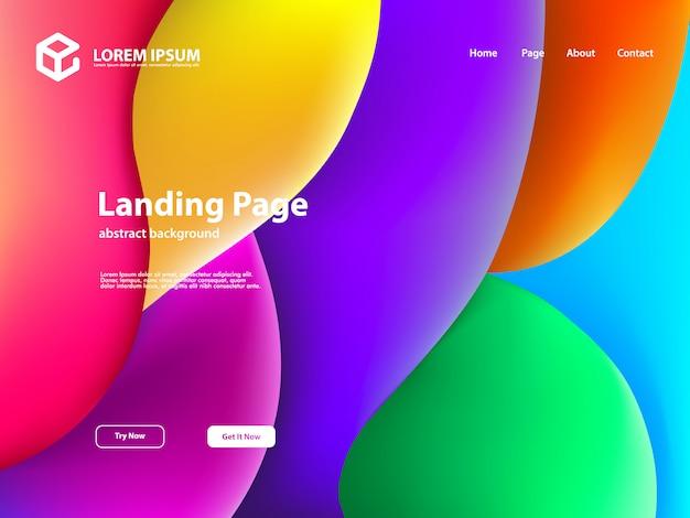 Web-landing-page-vorlagenhintergrund