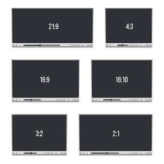 Web-player für video, audio in verschiedenen proportionen
