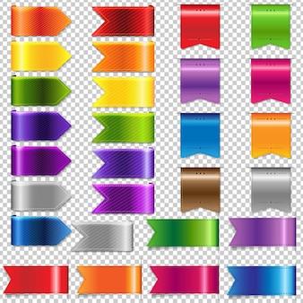 Web ribbon big set, isoliert auf transparent
