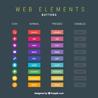 Web-schaltflächen sammlung