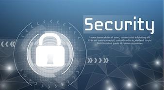 Web-Sicherheitsabbildung des sicheren Zugangs und der cyber Verschlüsselungsverriegelung für autorisierten Zugang.