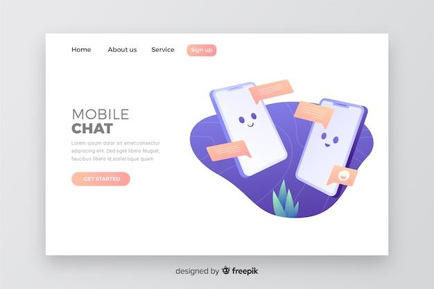 Web template für das geschäft mit mobile