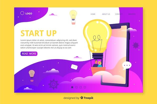Web template für die start-landing-page