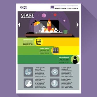 Web template für start-ups