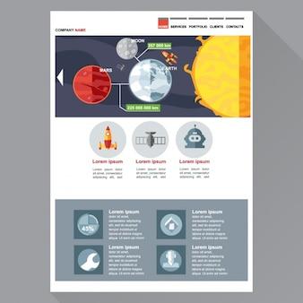 Web template mit galaktischen elemente