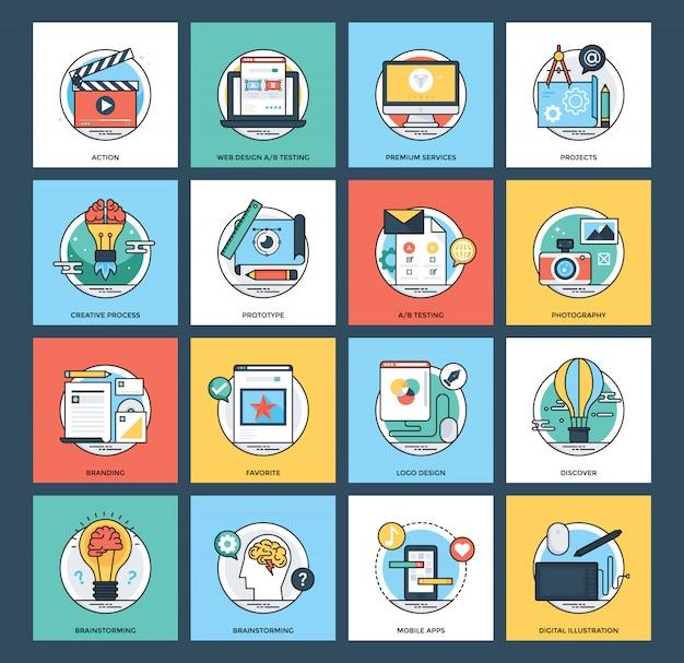 Web- und mobile-entwicklungspaket