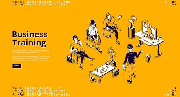 Web-vorlage für business-schulungen. konferenz, seminar und vortrag zum professionellen lernen