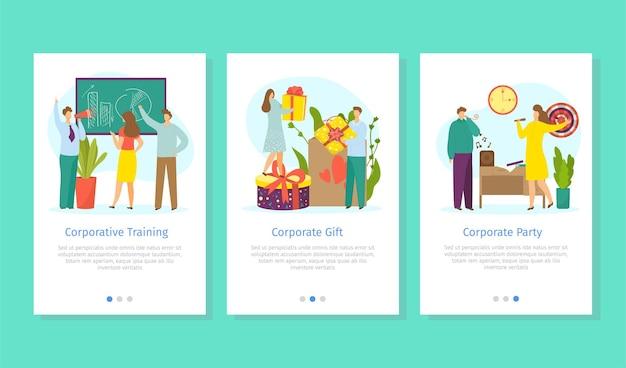 Web-vorlage für firmenunternehmens-smartphones