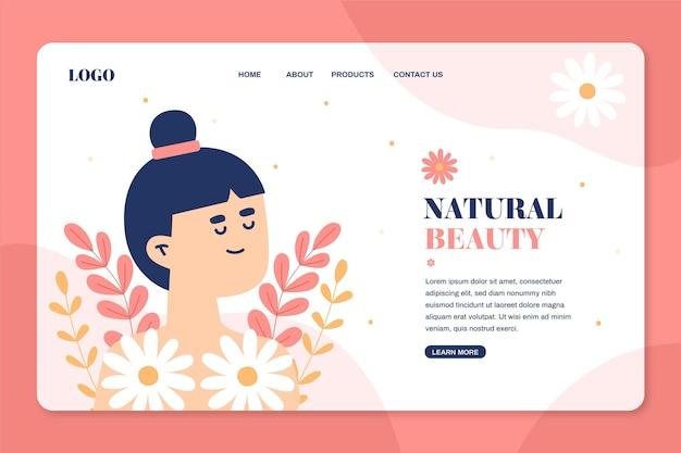 Web-vorlage für landingpage der naturkosmetik