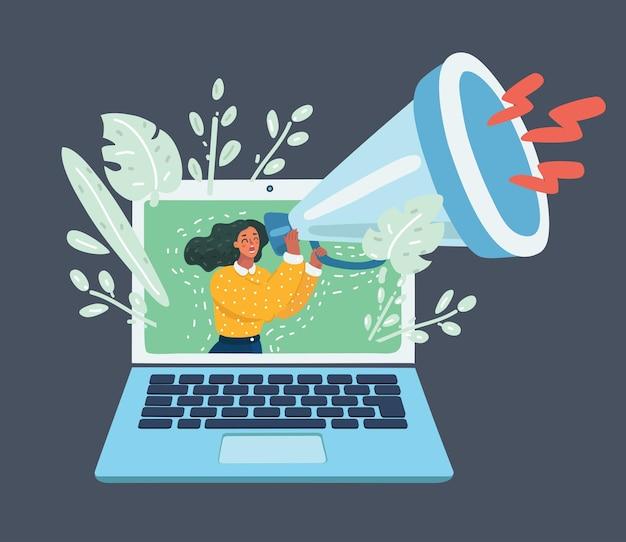 Web-werbung und spam-konzept