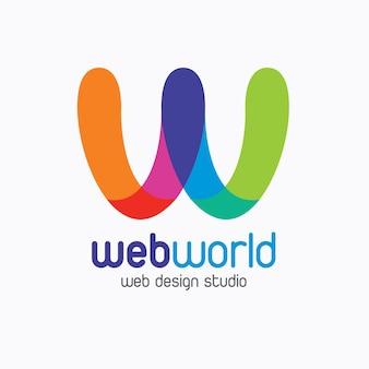 Web world kreatives buntes logo