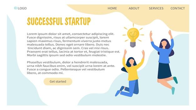 Webbanner-designvorlage mit geschäftsideenkonzept und kreativer lösung
