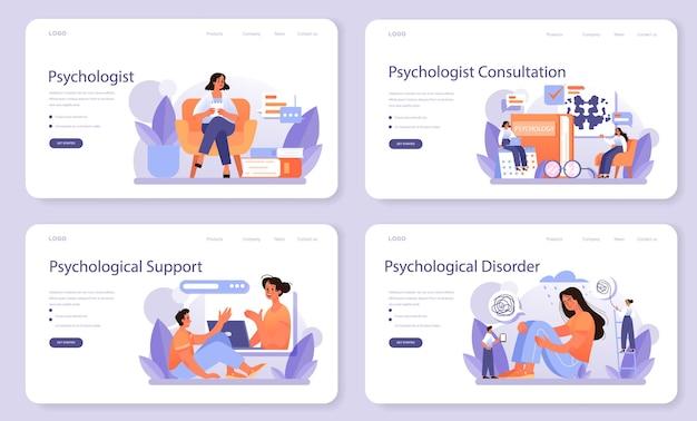 Webbanner oder zielseitenset für psychologen