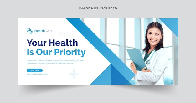 Webbanner-vorlage für das gesundheitswesen