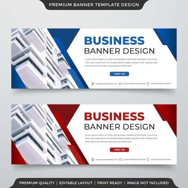 Webbanner-vorlagendesign