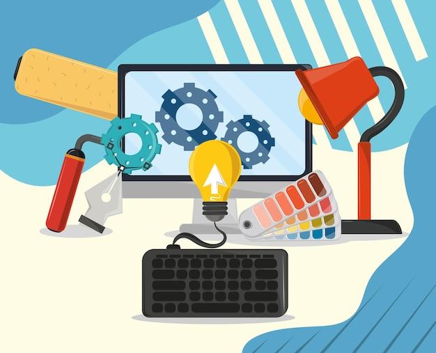 Webdesign-arbeit