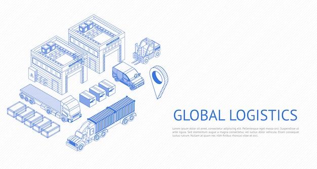 Webdesign der globalen logistik
