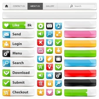 Webdesign-elementsatz
